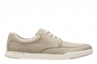 Clarks Mens Step Isle Lace Sand Shoes